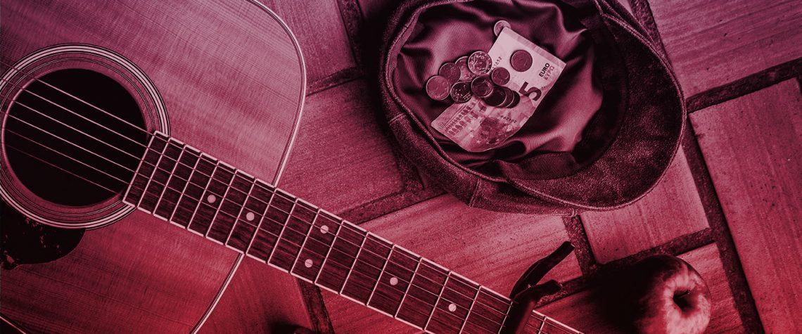 money in hat - guitar